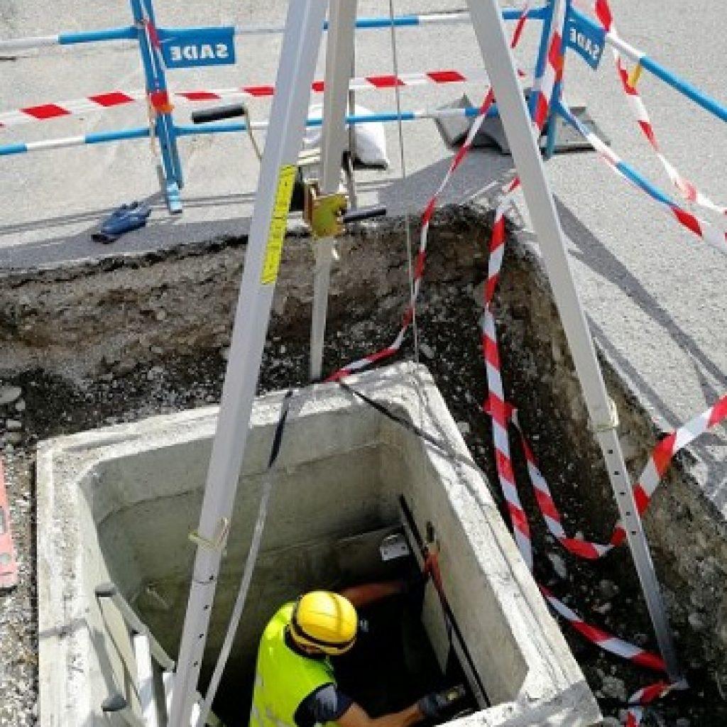 Installation vanne F-Reg Metro Grenoble