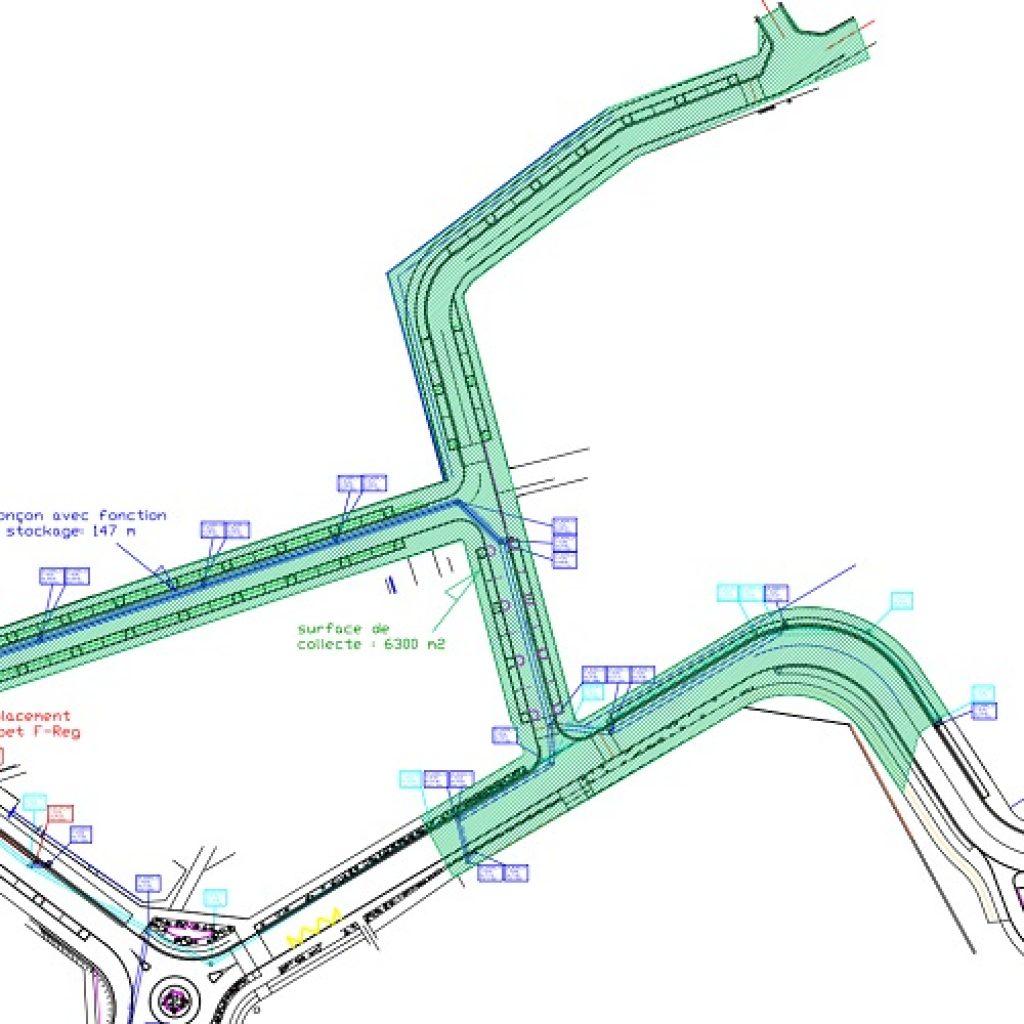 Etude projet pour analyse F-Reg et amélioration par les vannes des ruissellements urbains