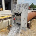 Test vanne de chasse Freg au laboratoire de mesure hydraulique